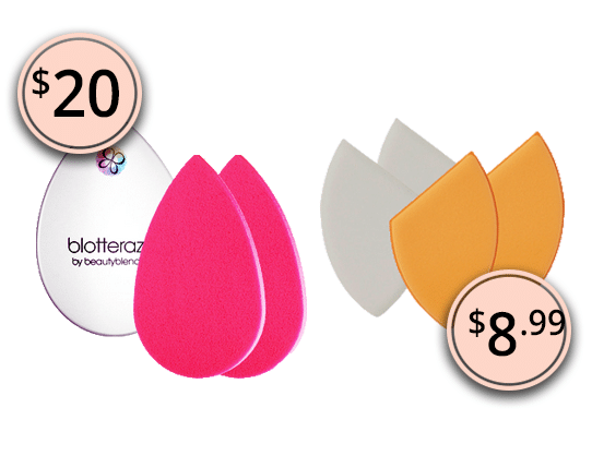 Makeup Dupes 2017: BeautyBlender Blotterazzi Blotting Sponges & Real Techniques 4 Miracle Blotting Cushions