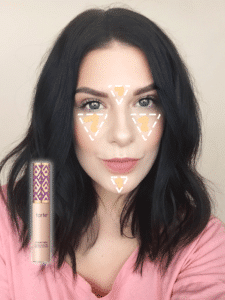 Get the Look | Monochromatic Makeup: Tarte Shape Tape Concealer Application Chart!