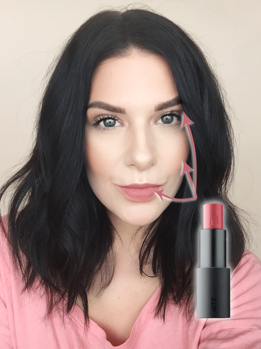 Get the Look | Monochromatic Makeup: Where to apply Bite Beauty Multistick!