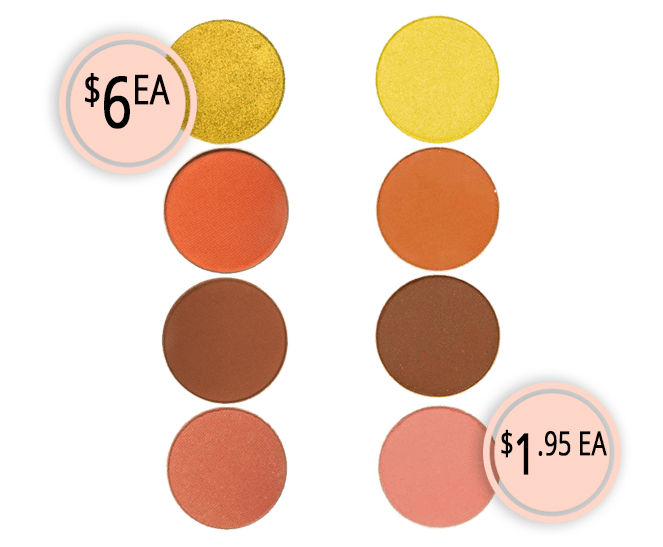 Makeup Dupes Part 3 | Makeup Geek Eyeshadow Pans vs. Coastal Scents Hot Pot Eyeshadow Pans
