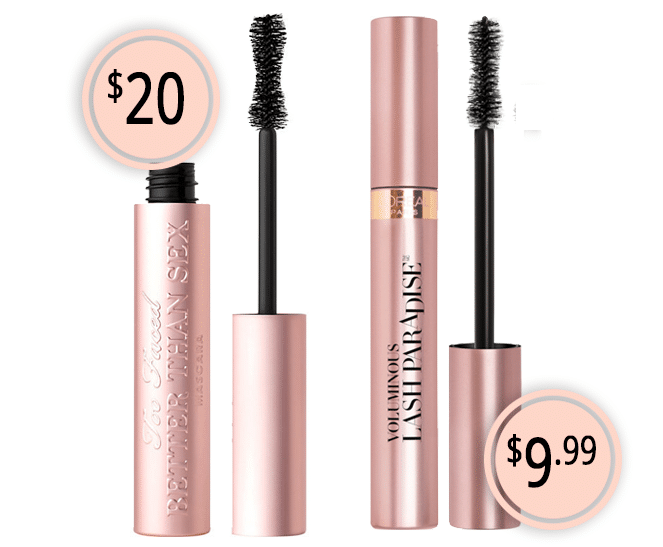 Makeup Dupes Part 3 | Too Faced Better Than Sex Mascara vs. L'Oreal Voluminous Lash Paradise Mascara