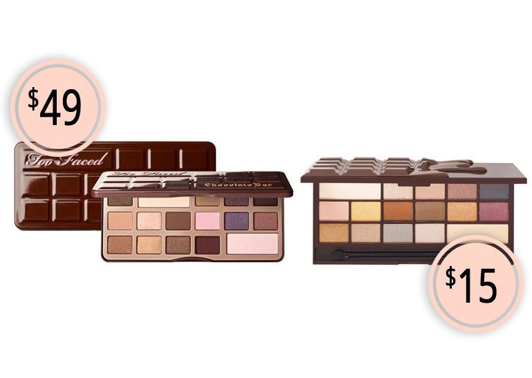 Makeup Dupes Part 3 | Too Faced Chocolate Bar Eyeshadow Palette vs. Makeup Revolution Death by Chocolate Palette