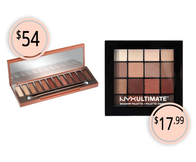 Makeup Dupes Part 3 | Urban Decay Naked Heat Eyeshadow Palette vs. NYX Warm Neutrals Eyeshadow Palette