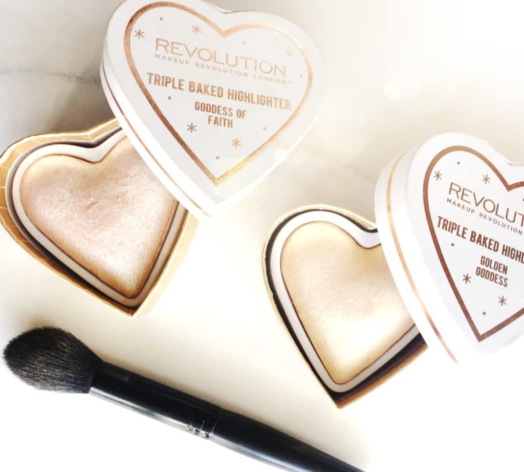 Makeup Revolution Blushing Hearts Highlighters | Review