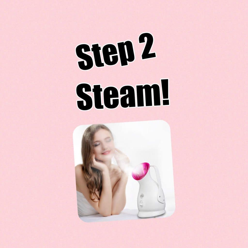 My Extensive at Home Facial Routine! Step 2 Steam! Boil a pot of water if you don't have a steam machine!