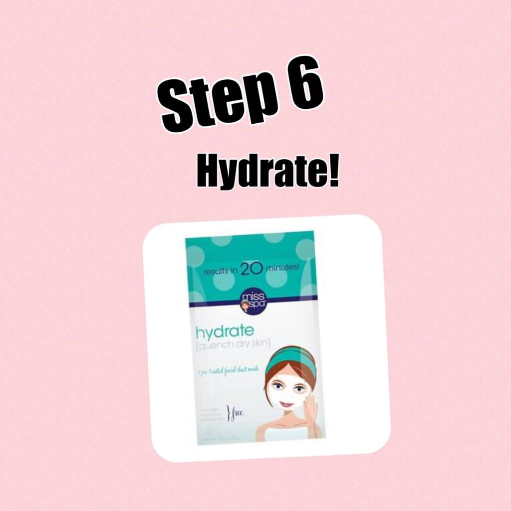 My Extensive at Home Facial Routine! Step 6: Hydrate (Miss Spa Hydrate Sheet Mask)